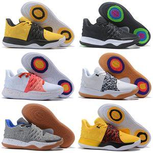 2019 New Mens Kyrie IV Баскетбольная обувь с низким вырезом 4 Мужские дизайнерские кроссовки Мужские спортивные кроссовки для баскетбола 14 Цветные дизайнерские кроссовки