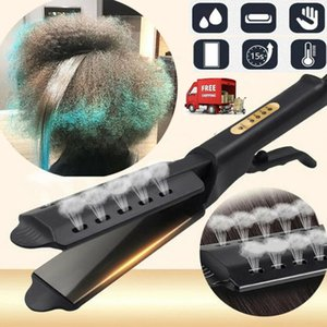 Plancha de pelo de cuatro velocidades de ajuste de temperatura Herramientas de cerámica iónico de turmalina plana de hierro Profesional Planeador en pelo de las mujeres