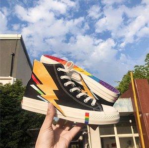 Роскошная кроссовок Sports кроссовки Mens женщин Мода Повседневная обувь высокого Лучшие мужские качества Обувь B1026 L30