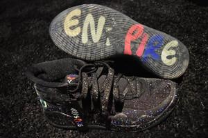 Enspire x KD 12 Bleu Gaze Dub Nation de basket-ball chaussures Les ventes Kevin Durant 12 hommes Chaussures de sport avec boîte taille gros 7-12