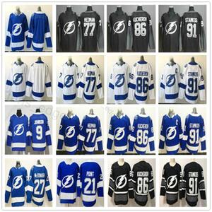 Tampa Bay Lightning Hockey jerseys # 91 Steven Stamkos Nikita Kucherov Victor Hedman Vasilevski, Johnson Ryan McDonagh Brayden Point Hombres Niños