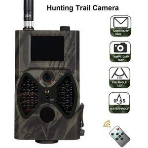 HC300M 2G Hunting Trail Camera 12MP 1080P MMS Telecamere senza fili cellulari Visione notturna HC-300M Camme di rilevamento selvaggio a infrarossi digitali
