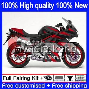 Bodys Pour KAWASAKI ER6 F 650R 650 R ER6F 2006 2007 2008 204MY.24 ER 6 F-650R ER6F ER6F 06 08 ER 6F 06 07 08 Laque Brillante Carénage rouge blk