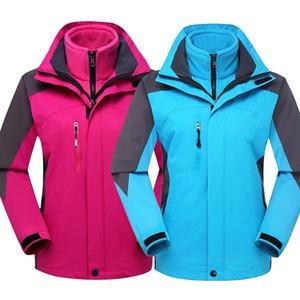 Moda 2in1 signore inverno caldo Sport fodera in pile escursionismo cappotto rivestimento esterno donne Windbreaker campeggio impermeabile Escursionismo Sci Giacche