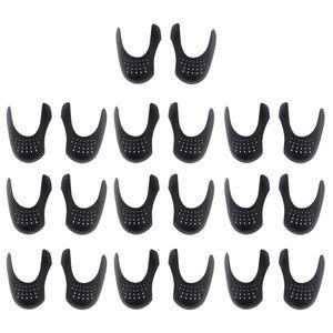 10 paia di scudi per scarpe da tennis Scatola per dita universale antiscivolo Sciarpe per scarpe da tennis Inserti protettivi Anti piega Commercio all'ingrosso 14,5 x 8,5 x 3,5 cm