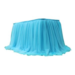 Tutu Tulle Table Skirt Elastic Mesh Tableware Tablecloth For Wedding Party Table Decoration Home Accessories Table Skirt