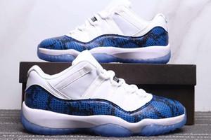 Envío gratis Jumpman 11 Low Navy Sneakkin Shoes New 11 Low White / Black-Navy-Navy Retro zapatos deportivos de alta calidad para hombre 11S zapatillas 36-47