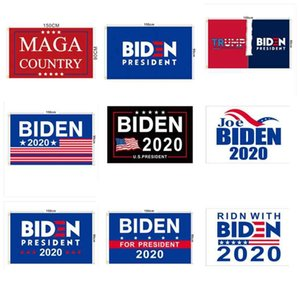 2020 JOE BIDEN Выборы Флаг 90x150cm Американский Президентские выборы Флаг Байден Сад Выборы Баннер Trump Флаг ZZA2190 100шт