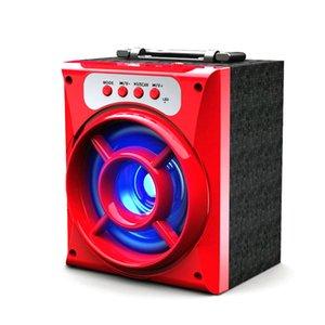 최고 품질 MS-132BT 휴대용 미니 무선 블루투스 스퀘어 스피커 지원 FM LED 음악을 재생하는 TF TF 음악 음악 재생