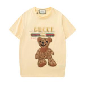 New Mens Designer T-Shirts Fashion Mens Womens Summer Tshirts Brand Short Sleeves T-shirts Spring Letters Bears Shirts Top Tees 2050605V