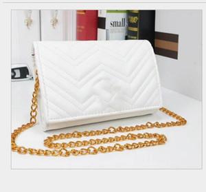 Woemn YENİ lüks çanta zincir tasarımcı crossbody çanta yeni stil Zinciri su dalgalanma küçük kare çanta omuz çantası Messenger