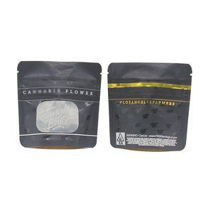 Mylar anteriore trasparente finestra aperta Sacchetti per imballaggio secco Herb Smell Borse Proof Tabacco Custodia a prova di bambino Borse Grammi California SF 8 3.5g