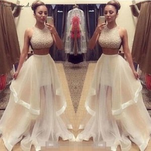 Evening Party Dress Sml Size Champagne Two Piece Dresses Custom Made Prom Women Long Drop Shipping