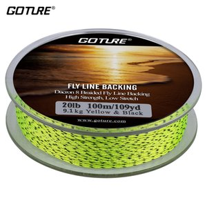 Sports & Entertainment Goture 100M 8 Strands Fly Line Backing 20LB High Strength Low Stretch Trout Dacron Braided Fishing Line