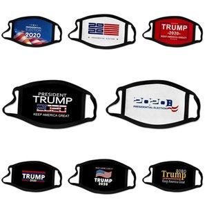 Diseñador de la máscara de lujo Trump Bandera de impresión digital diseñador Trump mascarilla de las máscaras a prueba de polvo PM2,5 lavables ajustable gancho para la oreja caliente de la venta # 878