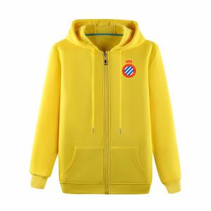 Espanyol Uomo 2019 Full-Zip Viaggi Giacca 2019 2020 Espanyol maglione di cotone giacca in jersey di calcio di addestramento della tuta con cappuccio giacche espanyol