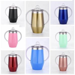 De água de aço inoxidável Garrafa Moda Vacuum Cup bebê Pure Color Chupeta Copo Com Handle preservação do calor inverno Cups WY303Q