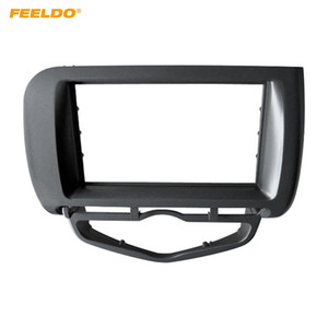 FELELO Car Radio Fascia Frame for Honda Fit Jazz / City 2002-2008 (Auto AC، LHD) Stereo DVD 2Din Dash Face Frame Installation Mount Kit # 4964