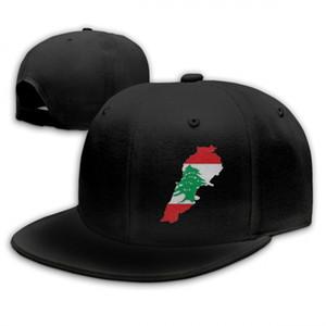 Unisex Uomo Flag Of Lebanon Outdoor Hip Hop Sun Cappelli in cotone regolabile Colore opzione Hip Hop Cap misura