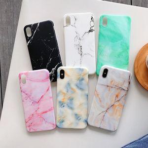 Recién llegado Grueso TPU Soft Cover Phone Marble Case para iPhone 11 Pro 2019 XS Max XR X 6 6S 7 8 Plus