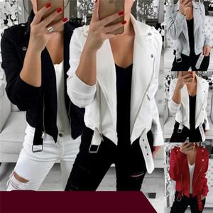 Herbstfrauenjacke Mantel Langarm Umschurfen Kragen Mäntel Outwear Fashion Sweatshirt Reißverschluss Jacken Winter Design Strickjacke Top Kleidung