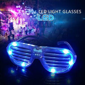 LED lunettes cadre Luminescence Bouton Interrupteur à piles Rafraîchissez Party Night Festival Fournitures éclairage Sans objectif