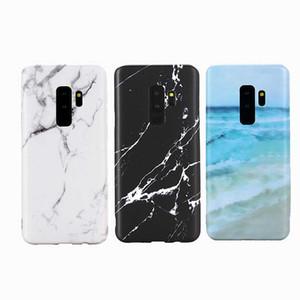 50 unids textura de mármol mate suave anti-caída TPU caja del teléfono para Samsung Galaxy S8 S9 S10 S8 Plus S10 Plus cajas del teléfono IMD