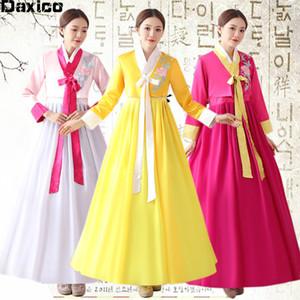 Nouvelle arrivée coréenne hanbok Robe Costume Danse ethnique Femmes traditionnelle coréenne Royal Court scène de danse orientale Vêtements Outfit