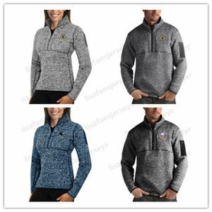 Бостон Брюинз Сан-Хосе Шаркс Нью-Йорк Айлендерс НХЛ Толстовка 2019 пуловер Hoodie Mens женщин Pro Clutch Quarter-Zip пуловер Jacket