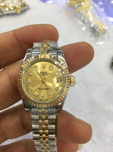 10 colores mujeres 26 mm reloj mecánico automático de diamantes Sin movimiento de batería de barrido automático Reloj de acero inoxidable Datejust reloj