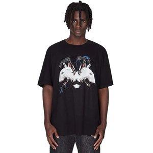 Casual 20SS Cerberus Impresso High Street Tee Skate Verão solto T-shirt manga curta Homens Mulheres Moda Tee Oversize HFYMTX741