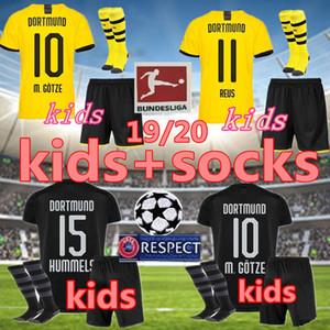 çoraplar Borussia Dortmund ÇOCUKLAR futbol forması 2019 2020 BVB MAILLOT de foot REUS PULISIC 2019/20 Dortmund futbol gömlek ÇOCUKLAR kiti