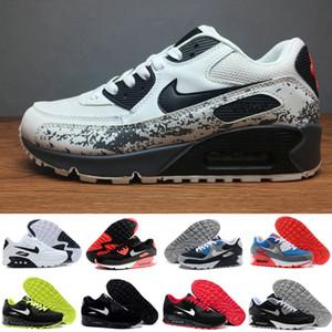 2019 Erkekler 90 Koşu Ayakkabı Virgil Bisiklet Dünya kupası Üçlü Beyaz Siyah hava Kırmızı kapalı spor ayakkabıları 90'ların Erkek Eğitmenler Spor Chaussures zapatos AWT-Y