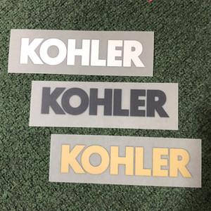 18 19 Logotipo de impresión KOHLER en la manga del jersey de fútbol Patrocinador de pegatinas impresas blanco Insignias publicitarias de plástico impresas parches de estampado