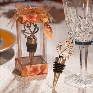 Осень Themed венчания золота листьев клена бутылки вина Пробка девичника Фавор и подарков для гостей быстрая перевозка груза F20171807