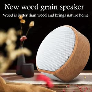 Cartão SD Suporte de madeira falante Bluetooth mãos livres MP3 Super Mini Wireless Speaker AUX Subwoofer Rádio Para Smartphone Car AudioFreeShipping