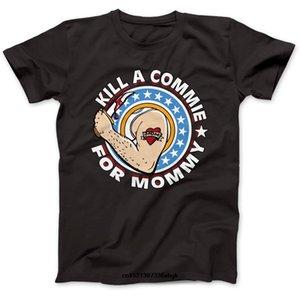 Noir T-Kill A Commie Porté par Johnny T-shirt 100% coton Ramone Punk personnalisé T-shirt personnalisé T-shirt