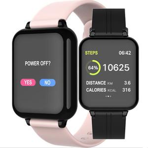 1 قطع الأزياء b57 شاشة اللون الذكية ووتش القلب معدل ضغط الدم مقياس التأكسج الخطوة دعوة تذكير بلوتوث الرياضة سوار