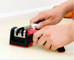Affilatrici hard carburo di ceramica maniglia Household Knife Grindstone Grossa Fine Sharpening Stone Cucina Accessori 3 colori