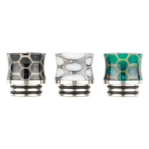 VapeSoon Newest Arrival 810 SS Resin Drip Tip Snake Style Suit For Falcon King TFV12 Prince TANK etc DHL Free