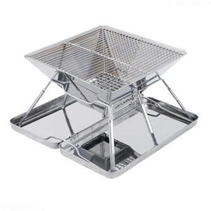Accessori per barbecue da cucina portatili da campeggio in acciaio inossidabile per barbecue a griglia per barbecue pieghevole per barbecue pieghevole Accessori per barbecue