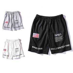 NASA Shorts Mens Short Letter Embroidery Drawstring Summer Designer Pants Men Women Black White Grey Trend Sweatpants Size M-2XL O4CP