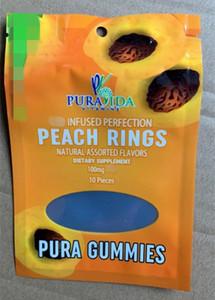 pura gummies Mylar-Tasche Geruch feste Kunststoff essbare Süßigkeit Packaing gummiartige Taschen aufstehen Reißverschluss wiederverschließbaren Beutel