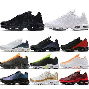 2020 Tn Plus Ultra SE Mercurial Men Running Shoes Chaussures Triple Black Volt Hyper Blue Mens Trainers Sneakers Athletic Sports Size 40-46