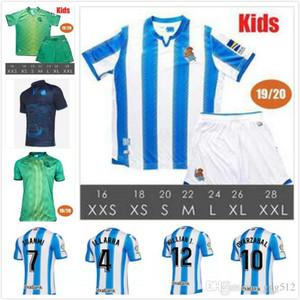 19 20 Real Sociedad hogar lejos MAN + niños del kit del fútbol de los jerseys 2019 Real Sociedad PRIETO XABI GRANERO GIRRETXE CARLOS las camisas del fútbol uniforme
