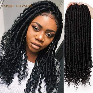 Dread Loc Faux Loc AISI Goddess Faux Locs Dreads Crochet Braids Synthetic Hair Extension 16 inches Soft Natural 24 Stands Pack