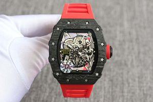 TA R35-02 La haute qualité La fibre de carbone Ainsi, le concepteur de montres montre automatique tourbillon de luxe montre reloj de Lujo montre