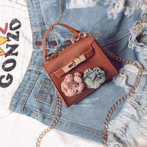 브랜드의 새로운 1PC 절묘한 여성의 미니 꽃 핸드백 체인 메신저 Crossbody의 어깨 가방 큰 꽃 어린이 지갑 선물