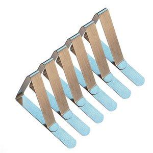 Clips de la cubierta del mantel de acero inoxidable triángulo sostenedor del paño de tabla de la boda de baile manteles abrazaderas prácticas prácticas del partido ST376