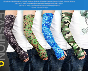 Camo Arm Sleeves Cycling Camouflage Anti-UV Protective Elastic Arm Warmers Outdoor Riding Fishing Guard Protective Sleeves LJJA4022